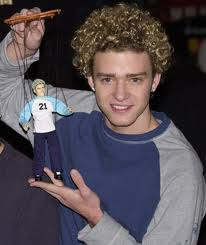 justin timberlake, n'sync, puppets, blonde fro