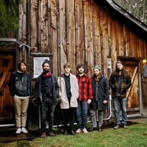 Fleet Foxes and a log cabin