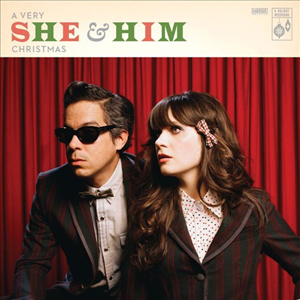 She & Him Christmas Album Cover