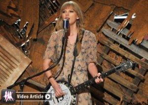 taylor swift, grammy's, performance, banjo