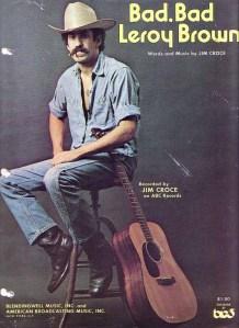 Jim Croce, Bad Bad Leroy Brown Single, cover art