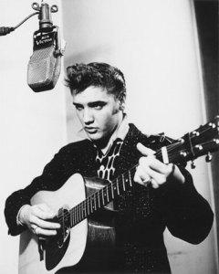 elvis presley, young, guitar