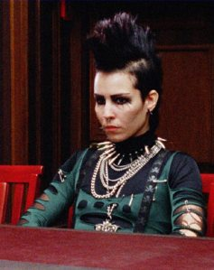 noomi rapace, girl with the dragon tattoo, girl who kicked the hornet's nest, hair, mohawk