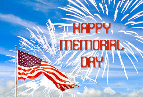 picture of memorial day activities such as fireworks and parties