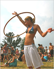 Hippie dancing at bonnaroo