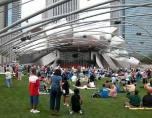 Jay Pritzker Pavilion in Millenium Park free concert series