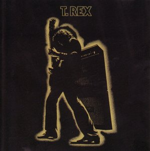 album cover art for t rex electric warrior
