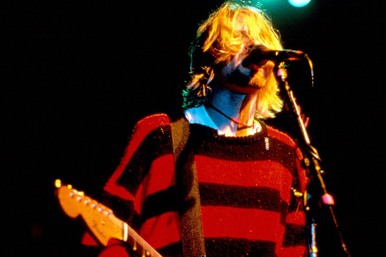 kurt cobain from the band nirvana, 90's band