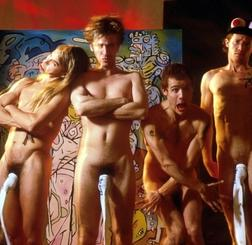 Red Hot Chili Peppers in the nineties, naked, tube socks