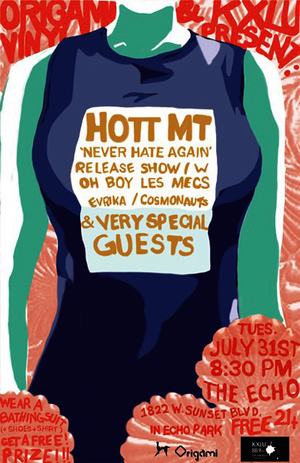 poster artwork for the hott mt show at the echo