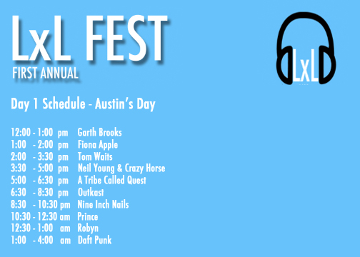 LxL Fest Day 1 Schedule, little by listen festival, music festival