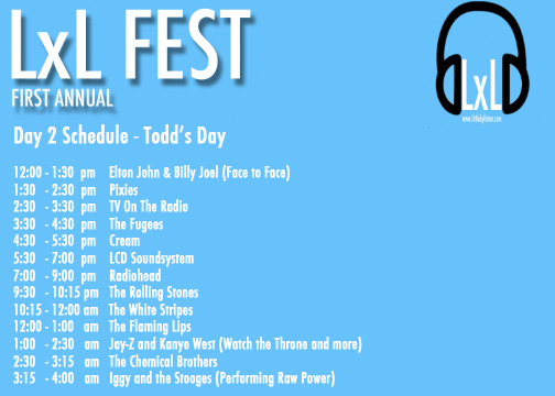 LxL Fest Day 2 Schedule, little by listen festival, music festival