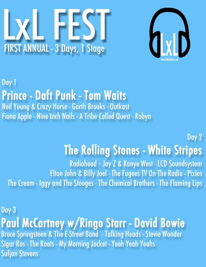 lxl fest, little by listen festival, music festival, lineup