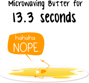 Butter after 15.3 Seconds in Microwave