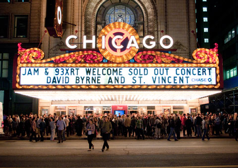 David Byrne and St. Vincent live at Chicago Theatre show review