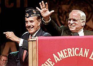 "Bob Dole as ""Dole Man"" and John McCain"