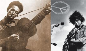 Arlo Guthrie, father and son, woody guthrie