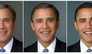 Barack Obama and George Bush with same campaign song