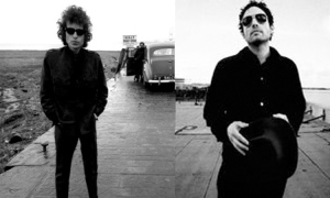 Bob and Jakob Dylan, father and son, together