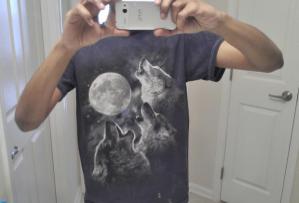 Wolf Howls at Moon T-Shirt, wolf, moon