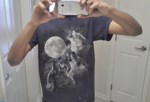 Wolf Howls at Moon T-Shirt, wolf, moon