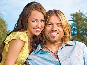 Miley Cyrus and Billy Ray Cyrus, father and daughter, together