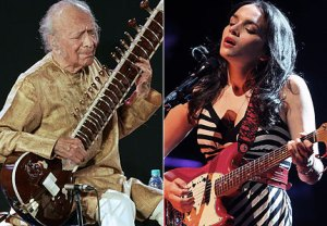 Norah Jones and Ravi Shankar, father and daughter, together