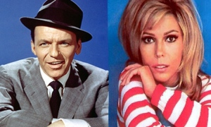 Frank and Nancy Sinatra, father and daughter, together