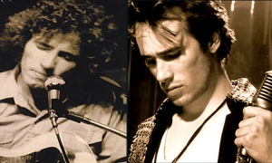 Jeff Buckley and Tim Buckley, father and son, together