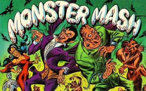 monster mash, monsters dancing, dracula, bobby pickett