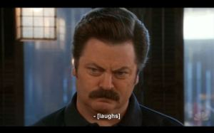 Ron Swanson, parks and rec, parks and recreation