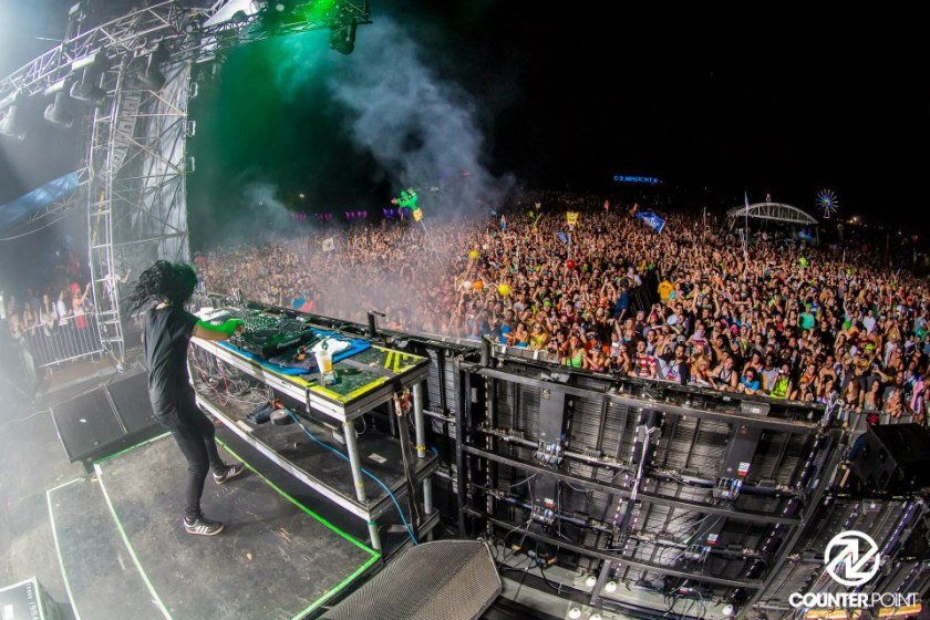 Skrillex at counterpoint music festival
