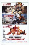 James Bond, 007, Thunderball, movie poster