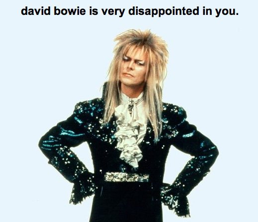 David Bowie, Is Dissapointed, labyrinth