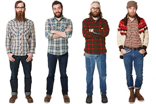 Hipster Guys, flannel, beard