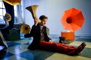 Andrew Bird with Gramophone Speakers