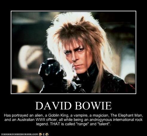 David Bowie character range